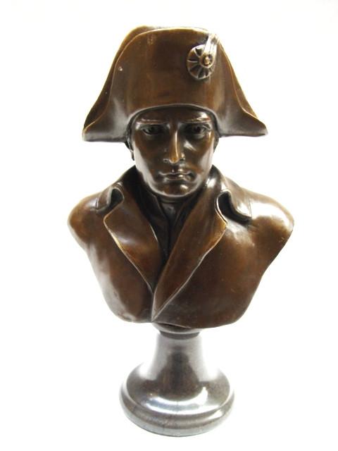 Bronzefigur Bust von Napoleon 24,9x9,4x14,7cm