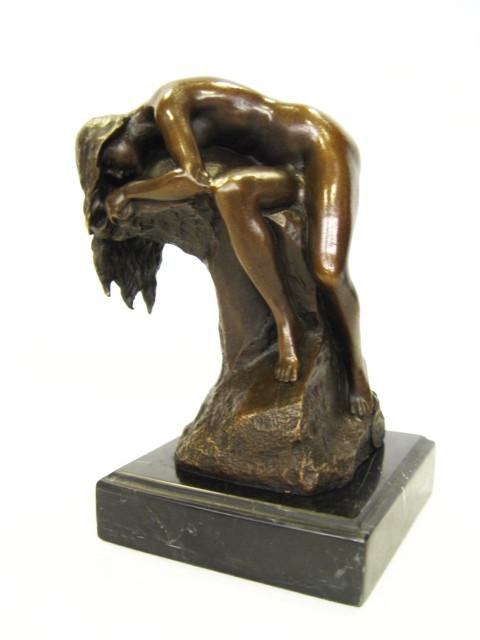 Bronzefigur The Sleeping Nude 17,1x10,2x12,4cm