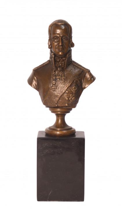 Bronzefigur Bust von Admiral Uschakow 19,9x4,9x7,6cm