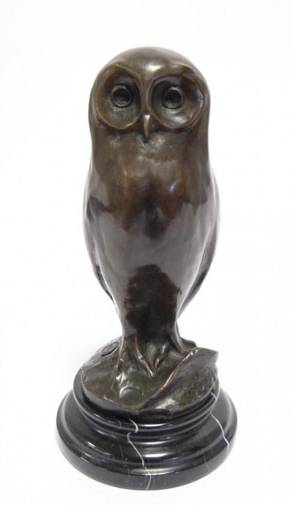 Bronzefigur Young Eule 24,7x12,1x12,1cm