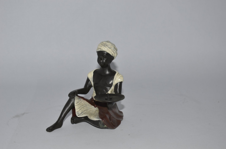 Figur Bronze Candle Holder