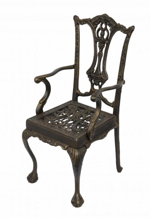 Gusseisen Single Doll Chair, Bronze Colour 44x20,5x22,5cm