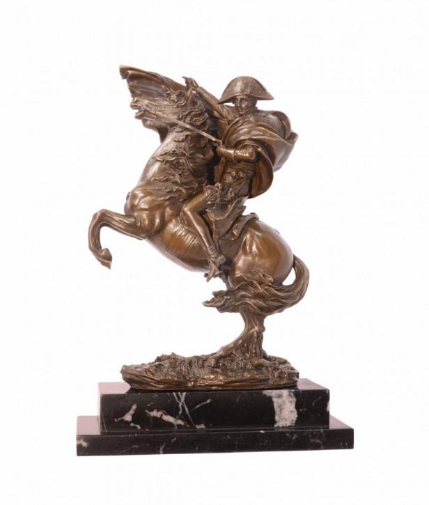Bronzefigur Napoleon Kreuzing The Alps 30x13,2x24,8cm