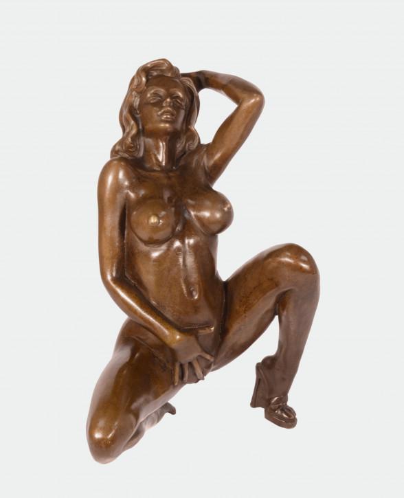Erotische Bronzefigur Female Nude 22x16,5cm