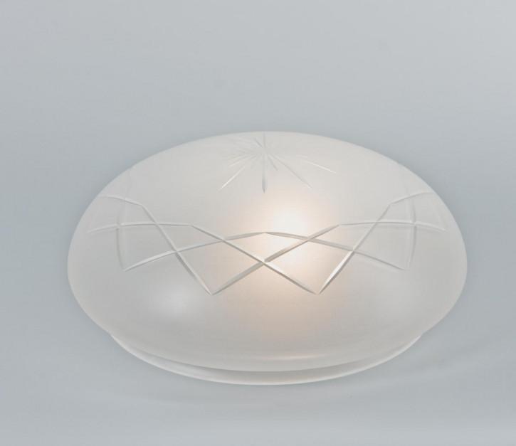 Ersatzschirm 125cr kristallmatt mit Schliff 12x30cm / 25cm