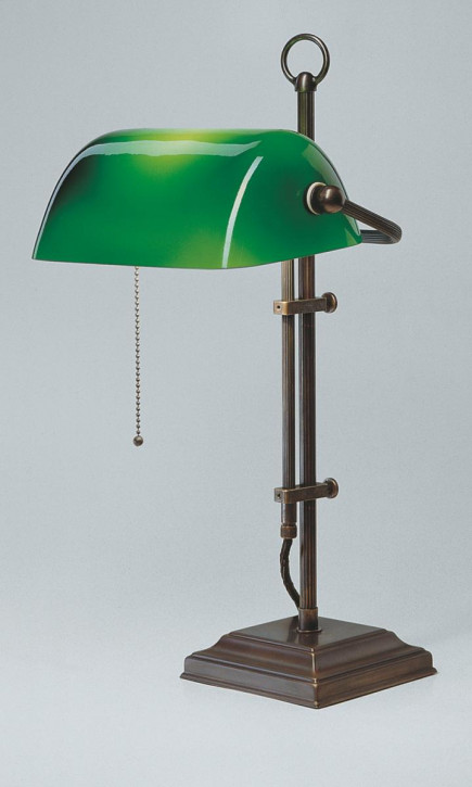 Bankerslampe W2 grün in Antik