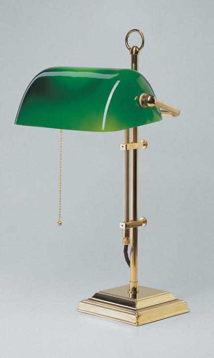 Bankerslampe W2 grün in Poliert