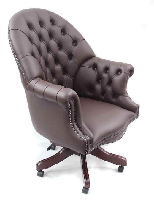 Chesterfield Board chair Plain Seat Swivel  Drehstuhl