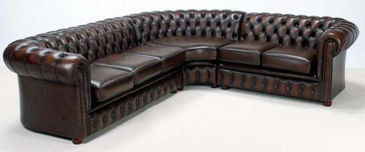 """London classic"" Chesterfield Ecksofa"