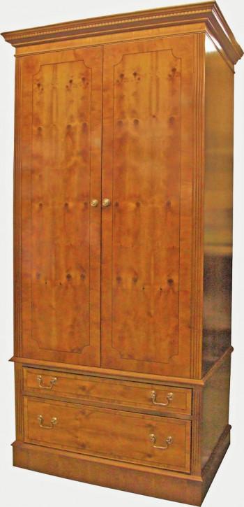 Kleiderschrank mit zwei Türen und zwei Schubladen