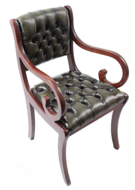 """Canterbury Carver Chair"" Chesterfield Bürostuhl Ledersessel"