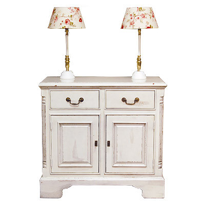 Sideboard 2D/2D Croco White und English Antique 105x48x95