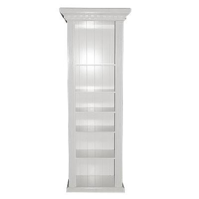 Bücherschrank I Shining White 85x45x220