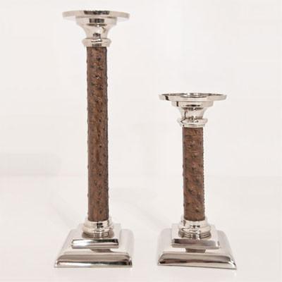 Kerzenständer Ostrich Leder 21cm