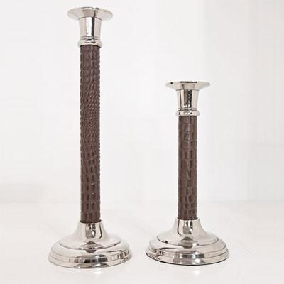 Kerzenständer Croco Leder 24cm