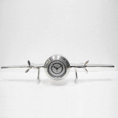 Tisch Uhr Airplane 63x14x17