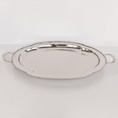 Serviertablett Oval Silber 61x40x5cm