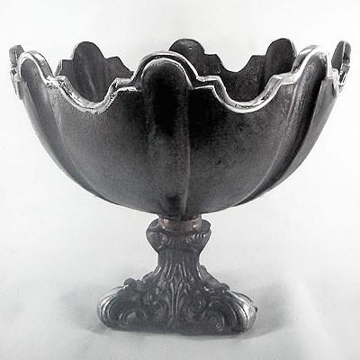 Vintage Obst-Schale D36 H30 Dekoschale in schwarz