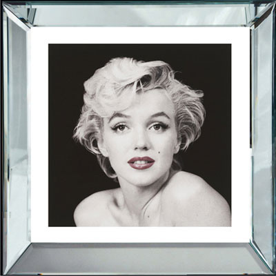 marilyn monroe red lips bild wandbild schwarz wei foto wanddekoration 40x40. Black Bedroom Furniture Sets. Home Design Ideas