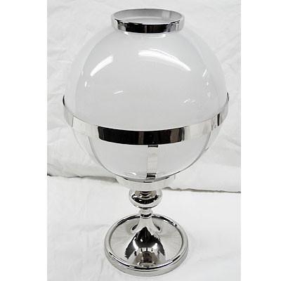 Dekoglas Kerzenglas rund Edelstahl 21x35