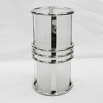 Kerzenglas Klein Kerzenständer Edelstahl Dekoglas 18x38
