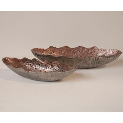 Schale Oval Groß Tischdekoschale Obstschale aus Kupfer
