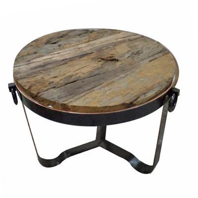 """Moderner Tisch """"Wood"""" D67 H52 Wohnzimmertisch Holztisch Beistelltisch"""