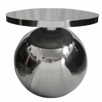 """Moderner Tisch """"Ball""""  aus Edelstahl kleider Tisch Beistelltisch 57x57x58"""