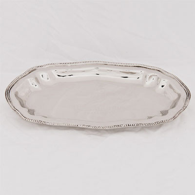Tablett klein HF Servierteller Edelstahl 26x14,5x2cm