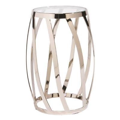 Tisch Stuhlassistent Edelstahltisch Glastisch 30x38x56cm
