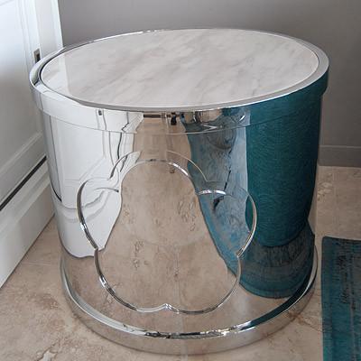 Beistelltisch Z-S aus Edelstahl kleiner Tisch 60x60x50