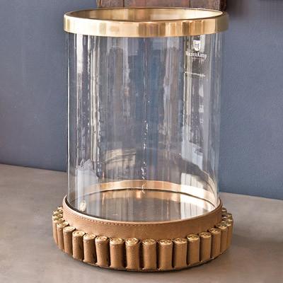 Kerzenglas Patrone Antik Messing Vintage Dekoglas