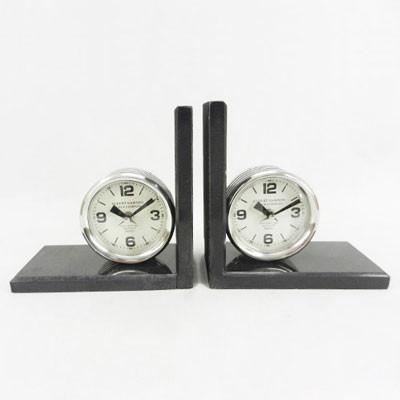 Buchstütze mit Uhr 20cm