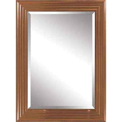 Moderner flurspiegel wandspiegel rund aus edelstahl for Spiegel kupfer