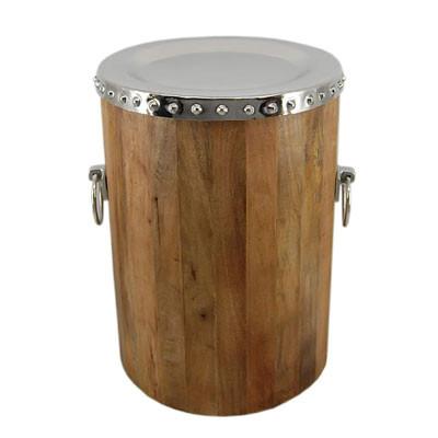 Holz Tisch Alu Top D38 H52