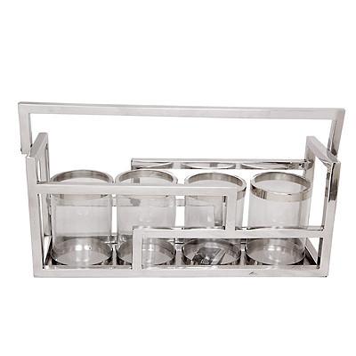 Laterne vier Gläser 61x18x26