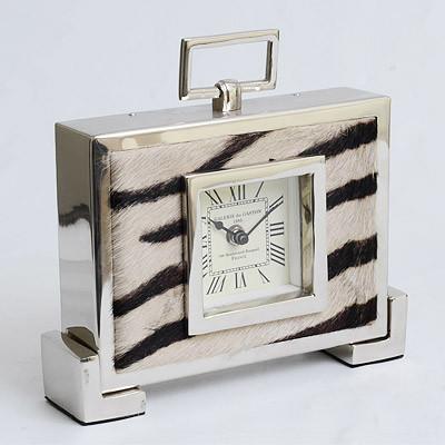 Tisch Uhr Zebra 24cm