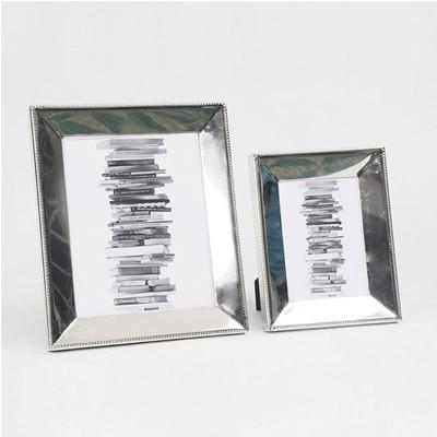 Moderner Edelstahl Bilderrahmen Fotorahmen aus Nickel in silber 33cm