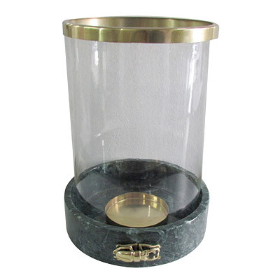 Kerzenglas Groß D27 H37 Marmor