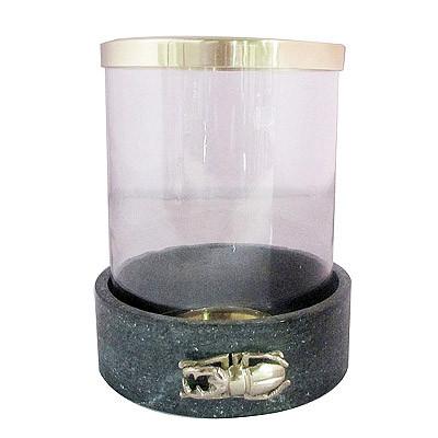 Kerzenglas Klein D21 H26 Marmor