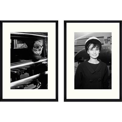wandbild audrey hepburn schwarz wei bild vintage 2er set 100x70. Black Bedroom Furniture Sets. Home Design Ideas
