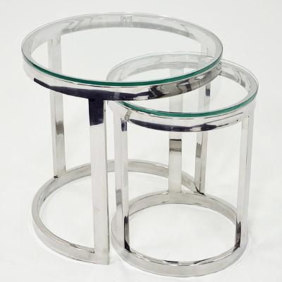 Beistelltisch mit klarem Glas 55x55x55cm
