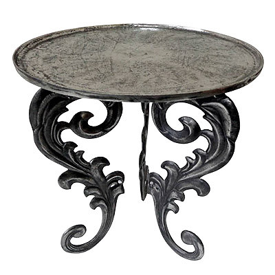 Dekorativer Tisch im Antik-Stil Edelstahl-Tisch Beistelltisch