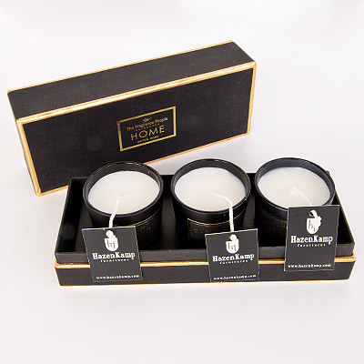 Votive Candle Gift Set Box Bitter Rose