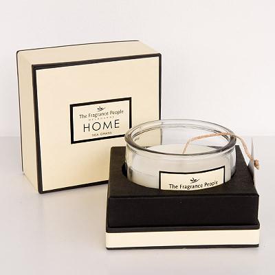 Große Duftkerze im Glas Geschenkset Seegras