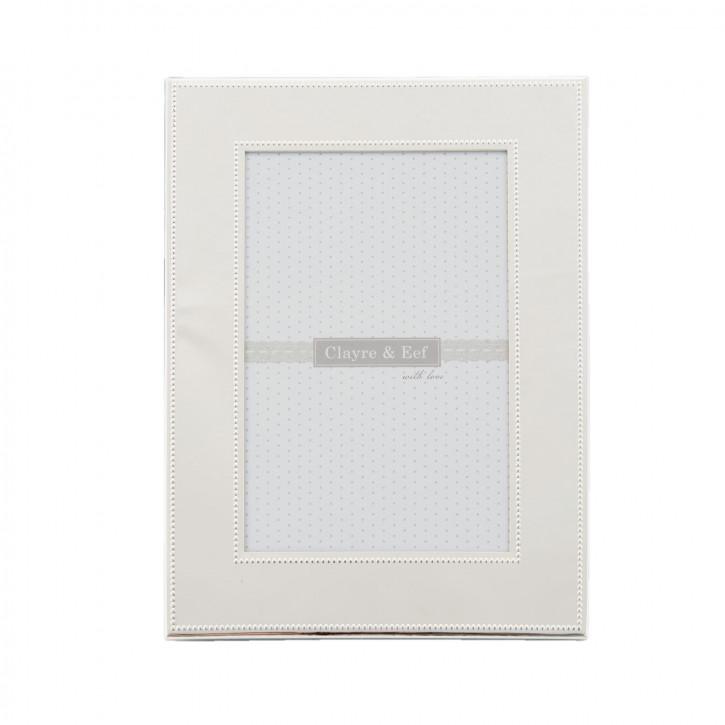 Fotorahmen schlicht weiß 10x15 cm