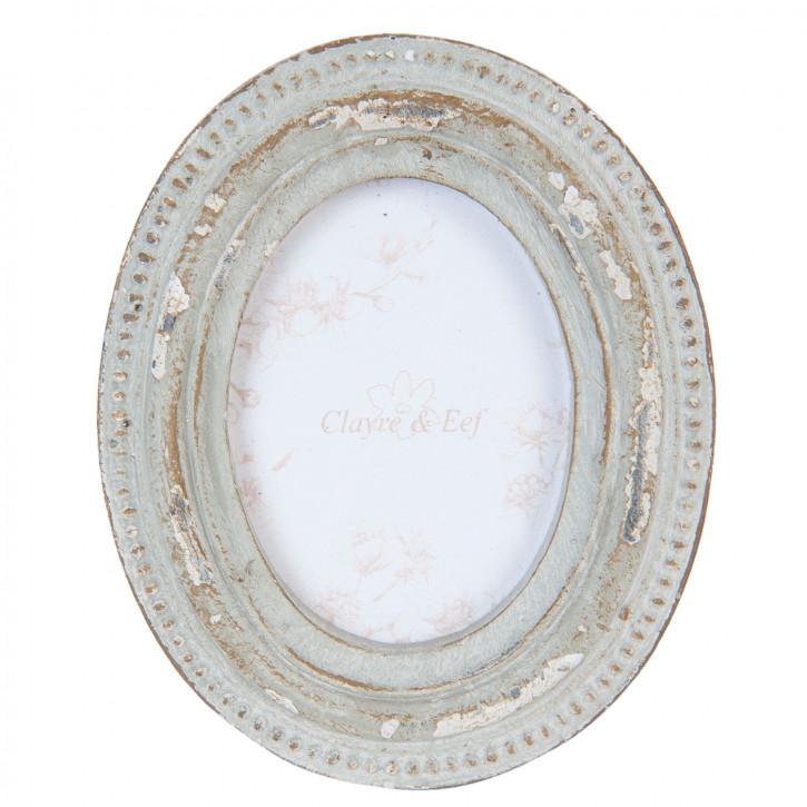 Fotorahmen grau oval 6x7 / cm