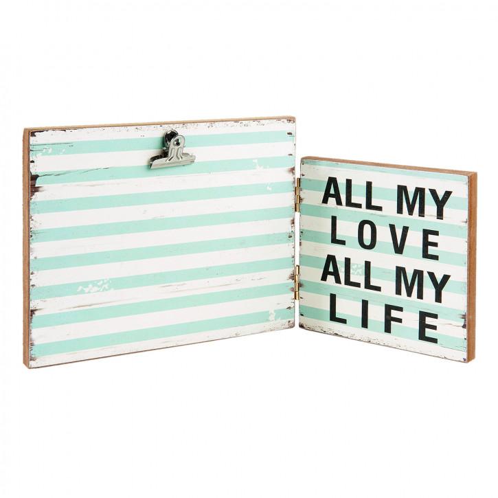 "Fotorahmen ""All my Love All my Life"" 30x2x15 cm"