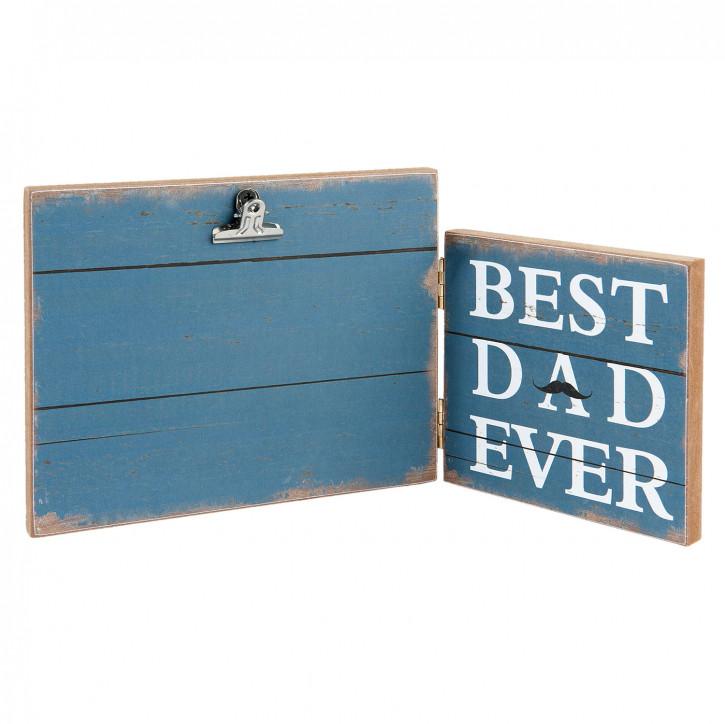 "Fotorahmen ""Best Dad Ever"" 30x2x15 cm"