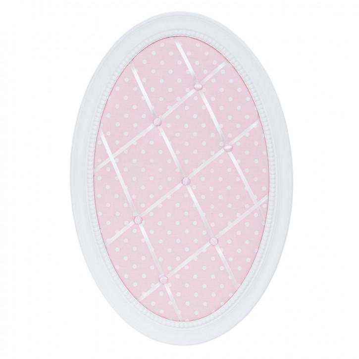 Memoboard oval rosa ca. 40 x 2 x 60 cm
